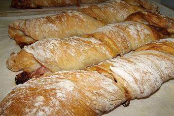 Baguettes rellenas - Panadería Moscoso Moure