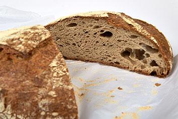 Detalle del pan da moa - Panadería Moscoso Moure