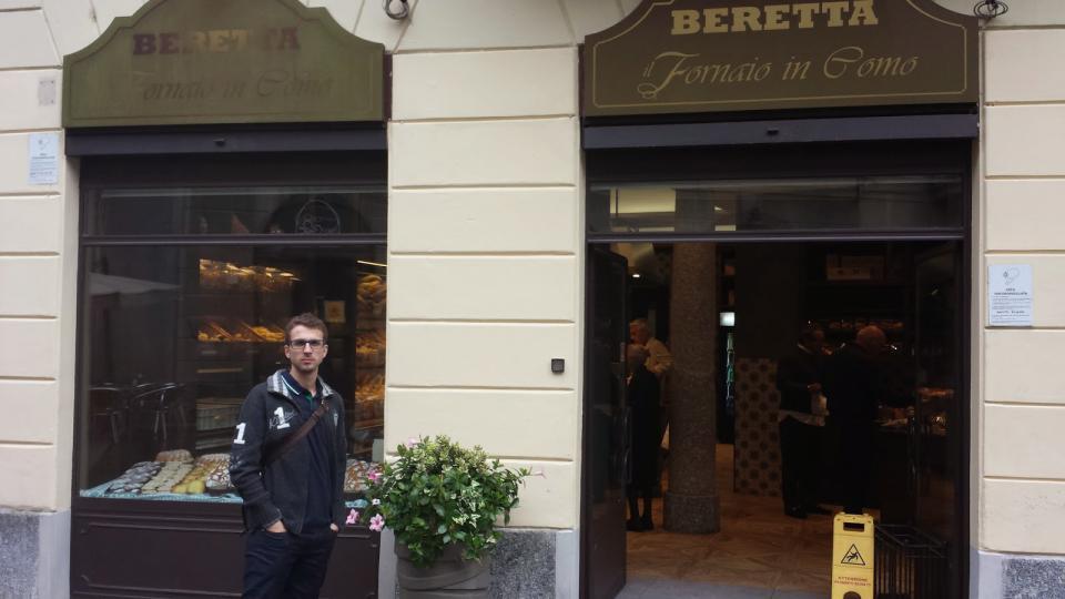 Fornaio Beretta, en Como, a la orilla del Lago